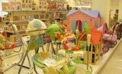 Торговое оборудование отдела игрушек детского магазина Винни ТЦ Юнимолл ЦВЕТНЫЕ МЕТАЛЛИЧЕСКИЕ СТЕЛЛАЖИ Фото 31