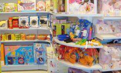 Торговое оборудование отдела игрушек детского магазина Винни ТЦ Dream House ЦВЕТНЫЕ МЕТАЛЛИЧЕСКИЕ СТЕЛЛАЖИ Фото 06