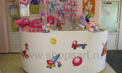 Торговое оборудование в детском магазине Гоша ЦВЕТНЫЕ МЕТАЛЛИЧЕСКИЕ СТЕЛЛАЖИ Фото 09