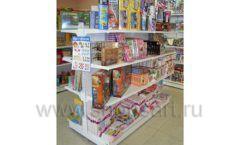 Торговое оборудование в детском магазине Гоша ЦВЕТНЫЕ МЕТАЛЛИЧЕСКИЕ СТЕЛЛАЖИ Фото 11