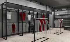Дизайн интерьера магазина одежды Funky Dunky Москва торговое оборудование ЛОФТ Дизайн 01