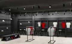 Дизайн интерьера магазина одежды Funky Dunky Москва торговое оборудование ЛОФТ Дизайн 02