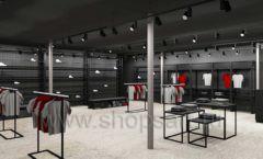 Дизайн интерьера магазина одежды Funky Dunky Москва торговое оборудование ЛОФТ Дизайн 03