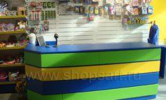 Торговое оборудование магазина в Green park ЦВЕТНЫЕ МЕТАЛЛИЧЕСКИЕ СТЕЛЛАЖИ Фото 08