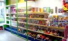 Торговое оборудование магазина в Green park ЦВЕТНЫЕ МЕТАЛЛИЧЕСКИЕ СТЕЛЛАЖИ Фото 24