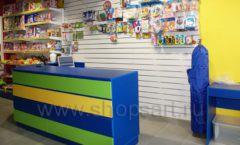 Торговое оборудование магазина в Green park ЦВЕТНЫЕ МЕТАЛЛИЧЕСКИЕ СТЕЛЛАЖИ Фото 30