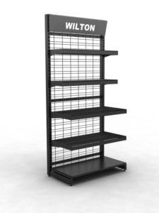 Брендированный сетчатый стеллаж Wilton торговое оборудование БРЕНДОВЫЕ СТЕЛЛАЖИ