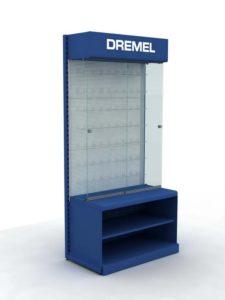 Брендированный стеллаж Dremel торговое оборудование БРЕНДОВЫЕ СТЕЛЛАЖИ