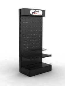 Брендированный стеллаж АТАКА торговое оборудование БРЕНДОВЫЕ СТЕЛЛАЖИ