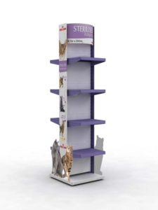 Брендированная стойка Royal Canin Sterilised торговое оборудование БРЕНДОВЫЕ СТЕЛЛАЖИ