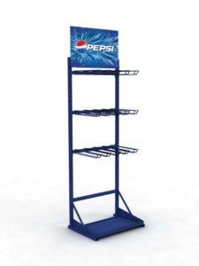 Брендированная сетчатая стойка Pepsi торговое оборудование БРЕНДОВЫЕ СТЕЛЛАЖИ