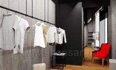 Дизайн интерьера магазина одежды Yuki Yan Москва торговое оборудование ЛОФТ Дизайн 01