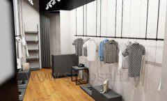 Дизайн интерьера магазина одежды Yuki Yan Москва торговое оборудование ЛОФТ Дизайн 03