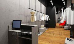 Дизайн интерьера магазина одежды Yuki Yan Москва торговое оборудование ЛОФТ Дизайн 04