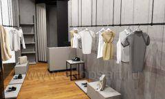 Дизайн интерьера магазина одежды Yuki Yan Москва торговое оборудование ЛОФТ Дизайн 05