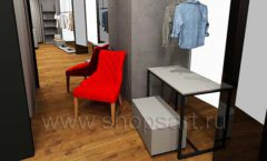 Дизайн интерьера магазина одежды Yuki Yan Москва торговое оборудование ЛОФТ Дизайн 06