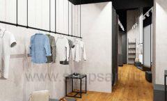 Дизайн интерьера магазина одежды Yuki Yan Москва торговое оборудование ЛОФТ Дизайн 07