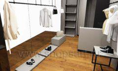 Дизайн интерьера магазина одежды Yuki Yan Москва торговое оборудование ЛОФТ Дизайн 08
