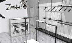 Дизайн интерьера магазина одежды Зена торговая мебель BLACK STAR Дизайн 2