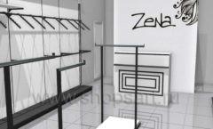Дизайн интерьера магазина одежды Зена торговая мебель BLACK STAR Дизайн 3