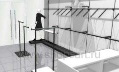 Дизайн интерьера магазина одежды Зена торговая мебель BLACK STAR Дизайн 4