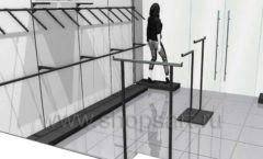 Дизайн интерьера магазина одежды Зена торговая мебель BLACK STAR Дизайн 5