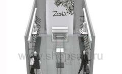 Дизайн интерьера магазина одежды Зена торговая мебель BLACK STAR Дизайн 7
