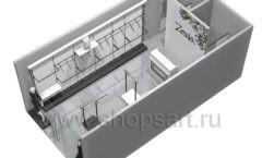 Дизайн интерьера магазина одежды Зена торговая мебель BLACK STAR Дизайн 8
