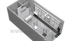 Дизайн интерьера магазина одежды Зена торговая мебель BLACK STAR Дизайн 9