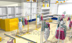 Дизайн интерьера детского магазина Жёлтый слон коллекция РАДУГА Дизайн 03