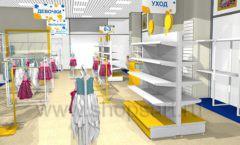 Дизайн интерьера детского магазина Жёлтый слон коллекция РАДУГА Дизайн 05