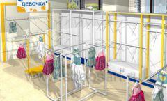 Дизайн интерьера детского магазина Жёлтый слон коллекция РАДУГА Дизайн 06
