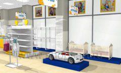 Дизайн интерьера детского магазина Жёлтый слон коллекция РАДУГА Дизайн 09