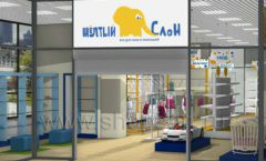 Дизайн интерьера детского магазина Жёлтый слон коллекция РАДУГА Дизайн 15