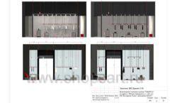 Дизайн проект магазина одежды Yuki Yan Москва торговое оборудование ЛОФТ Лист 11