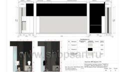 Дизайн проект магазина одежды Yuki Yan Москва торговое оборудование ЛОФТ Лист 12