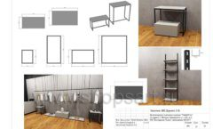 Дизайн проект магазина одежды Yuki Yan Москва торговое оборудование ЛОФТ Лист 13