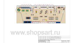 Дизайн проект детского магазина Желтый слон Сургут торговое оборудование РАДУГА Лист 05
