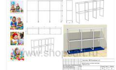 Дизайн проект детского магазина Желтый слон Сургут торговое оборудование РАДУГА Лист 17
