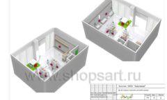 Дизайн проект детского магазина ЁМАЁ Хабаровск торговое оборудование РАДУГА Лист 21