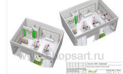 Дизайн проект детского магазина ЁМАЁ Хабаровск торговое оборудование РАДУГА Лист 22