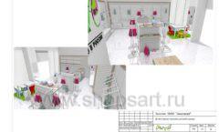 Дизайн проект детского магазина ЁМАЁ Хабаровск торговое оборудование РАДУГА Лист 23