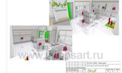Дизайн проект детского магазина ЁМАЁ Хабаровск торговое оборудование РАДУГА Лист 24