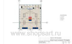 Дизайн проект детского магазина Модный Городок Москва торговое оборудование ГОЛУБАЯ ЛАГУНА Лист 06