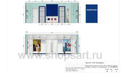 Дизайн проект детского магазина Модный Городок Москва торговое оборудование ГОЛУБАЯ ЛАГУНА Лист 16