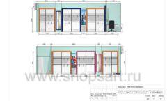 Дизайн проект детского магазина Модный Городок Москва торговое оборудование ГОЛУБАЯ ЛАГУНА Лист 17