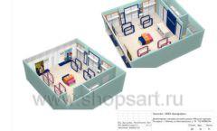 Дизайн проект детского магазина Модный Городок Москва торговое оборудование ГОЛУБАЯ ЛАГУНА Лист 20
