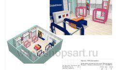 Дизайн проект детского магазина Модный Городок Москва торговое оборудование ГОЛУБАЯ ЛАГУНА Лист 21
