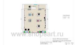 Дизайн проект детского магазина ACOO LIKE Дубна торговое оборудование РАДУГА Лист 08