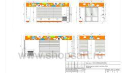 Дизайн проект детского магазина Емеля Южно-Сахалинск торговое оборудование КАРАМЕЛЬ Лист 12
